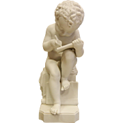 Vintage White Large Porcelain Cherub Figurine