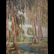 "Original Oil Painting by North West American Artist Myra Albert Wiggins ""Spring Freshet, California"""
