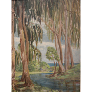 "Original Oil Painting by North West American Artist Myra Albert Wiggins ""Spring Freshet, California"""