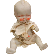 Vintage Porcelain Jointed Bisque Doll Made in Japan