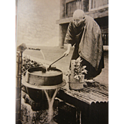 Vintage B&W Original Photograph - Drinking Fountain in Nagasaki, Japan