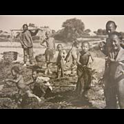 Vintage Original B&W Photograph - Little Chinese Children, Peking