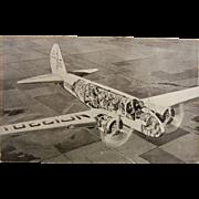 "Vintage B&W Postcard ""Air Liner is Flying City"""