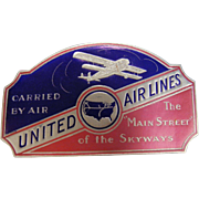 Set of 4 Vintage United Airlines Advertising Stickers