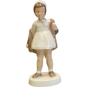 Vintage B&G Copenhagen Porcelain Figurine - Little Girl in Rain Coat