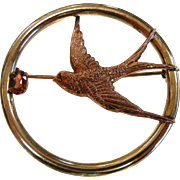 Vintage Signed Kreisler Brooch w/ Swallow