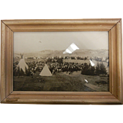 Framed Original B&W Photograph by E.H. Latham 1905 - Circle at Nespelem, Washington