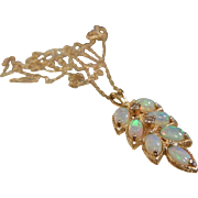 Fine 14K Gold & Opal Pendant Necklace