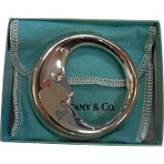 Fine Tiffany & Co. Sterling Silver Moon Baby Rattle