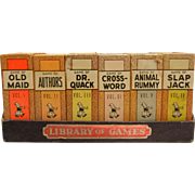 "Vintage Set of 1940's ""Library of Games"" Big-Little Card Games"