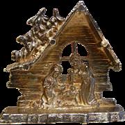 Fine Sterling Silver Miniature Christmas Manger Scene