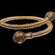 Old Vintage Gold-Tone Spring Gold Filled Etruscan Bracelet
