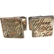 Vintage Tiffany & Company Sterling Silver Cuff Links