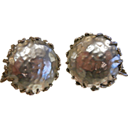 Vintage Miriam Haskell  Fuax Pearl Clip Earrings