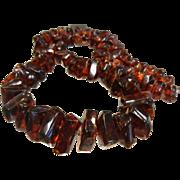 Vintage Graduated Natural Amber Necklace
