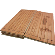 Chinese Bamboo Etched Folding Booklet