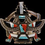 Vintage ZUNI Knifewing Cuff Bracelet