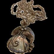 Unique Sterling Silver Quartz Pendant Necklace