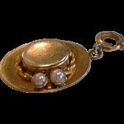 Vintage Gold Filled Charm - Hat