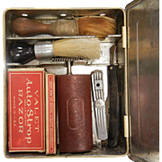 Vintage SAFETEE Shaving Cabinet w/ Contents
