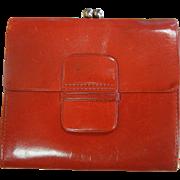 Vintage Red Soft Leather Wallet