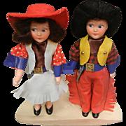Vintage Cowboy/Cowgirl Dolls