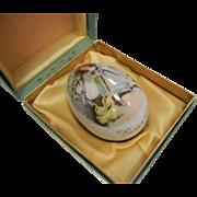 Vintage Royal Bayreuth Germany Easter 1978 Painted Porcelain Egg