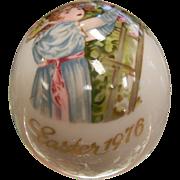 Vintage Royal Bayreuth Germany Easter 1976 Painted Porcelain Egg
