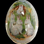 Vintage Royal Bayreuth Germany Easter 1975 Painted Porcelain Egg
