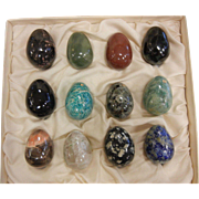 Boxed Set of 12 Natural Stone Eggs
