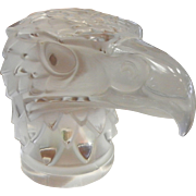 Vintage Signed Lalique Crystal Eagle Head