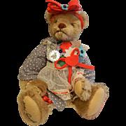"""Vintage GORHAM 1986 Molly Melinda Bearkin Musical Bear """"My Favorite Things"""""""