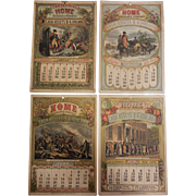 1876 Calendar Pages Advertising Centennial Home Insurance Company