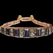 Edwardian Era Sapphire & Diamond 18K Rose Gold Bracelet