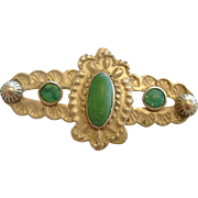 Vintage Sterling Silver Brooch w/ Natural Turquoise