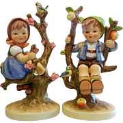 Vintage Goebel Porcelain Figurine Set - Apple Tree Boy & Girl