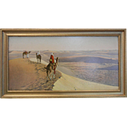 Framed Lehnert & Landrock Heliogravure Print - Au milieu des Grades Dunes