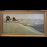 Framed Lehnert & Landrock Heliogravure Print - Les Grades Dunes