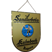 Vintage Beer Sign Sandlerbrau Kulmbach Bayern Germany