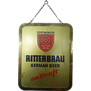 Vintage Beer Sign Ritterbrau German Beer