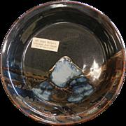 Vintage Mt. Saint Helen's Scenic Ash Glazed Plate