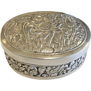 Antique German Signed LKB 800 Ornate Silver Box