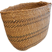 Native Pacific NW Salish/Siletz Hand Woven Basket/Purse