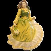 Vintage 1995 Royal Doulton Porcelain Figurine - April