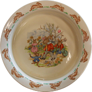 "Vintage Royal Doulton England Fine Bone China Plate ""Bunnykins"""