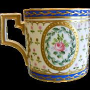 Antique French Gilt Enamel Porcelain Cup
