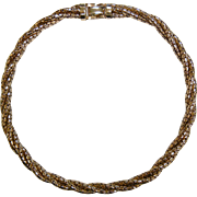 Vintage BIGNEY 12K Gold Filled Choker Necklace
