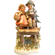 "Vintage 1992 Goebel Hummel Porcelain Figurine - ""On Our Way"""