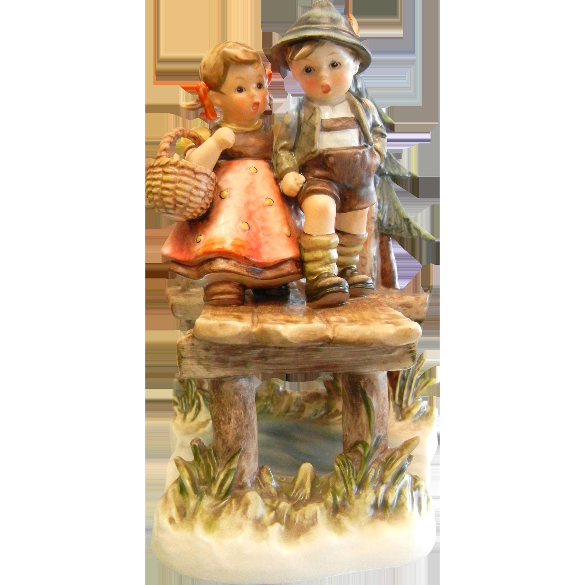 Vintage 1992 Goebel Hummel Porcelain Figurine Quot On Our