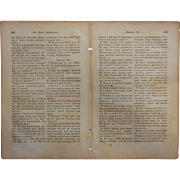 RARE Leaf from First Cherokee Bible - Printed 1840's